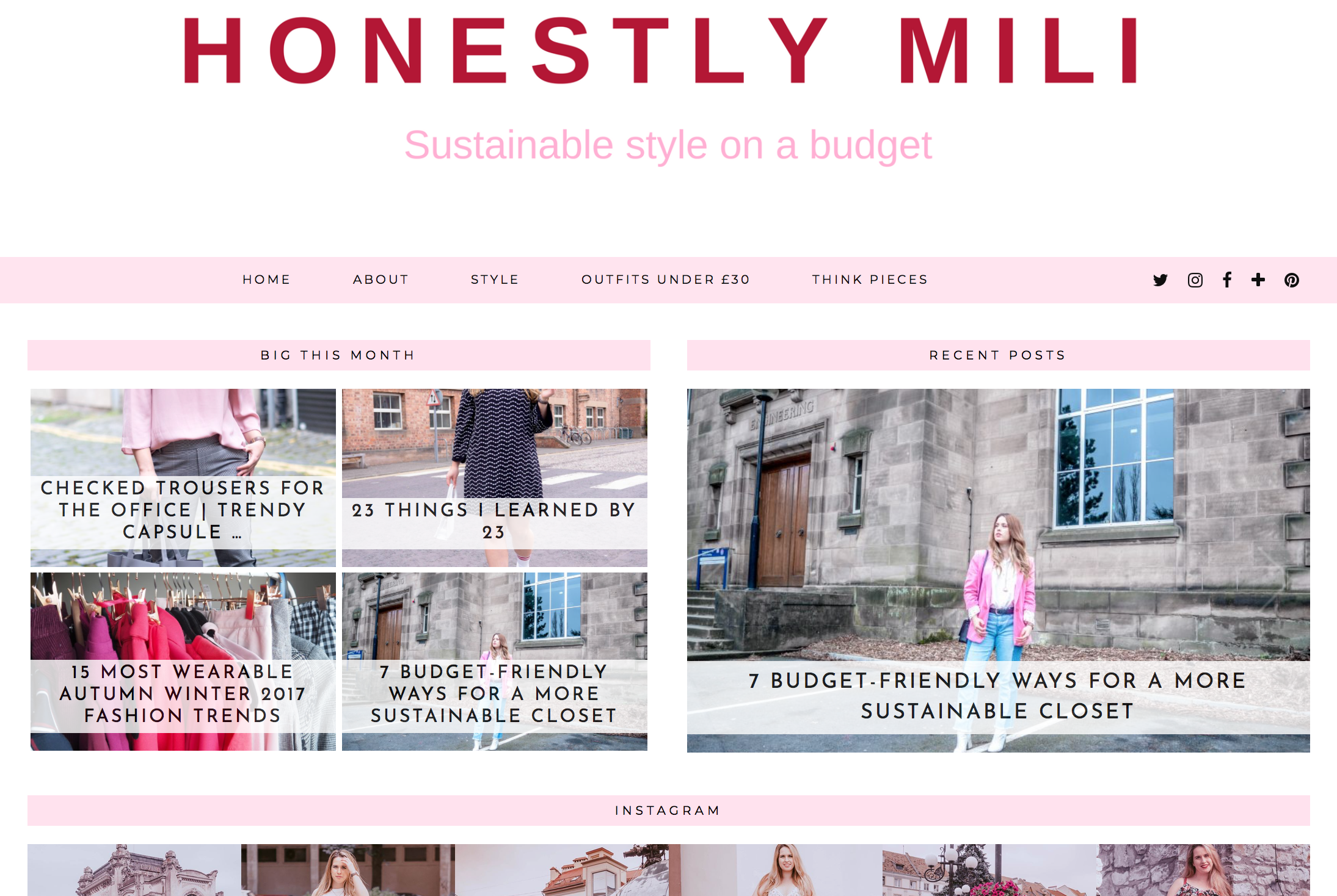 Honeslty Mili blog
