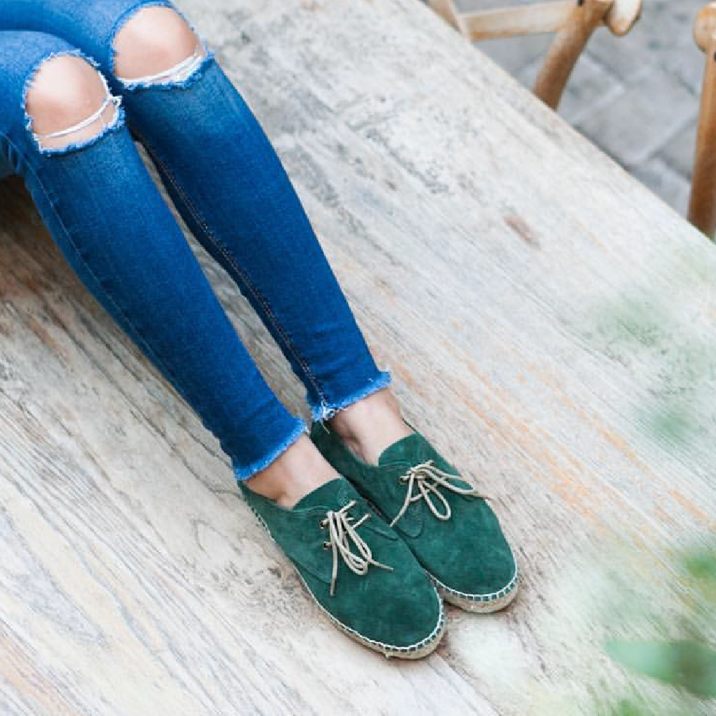 handmade espadrilles jutelaune sustainable green shoes