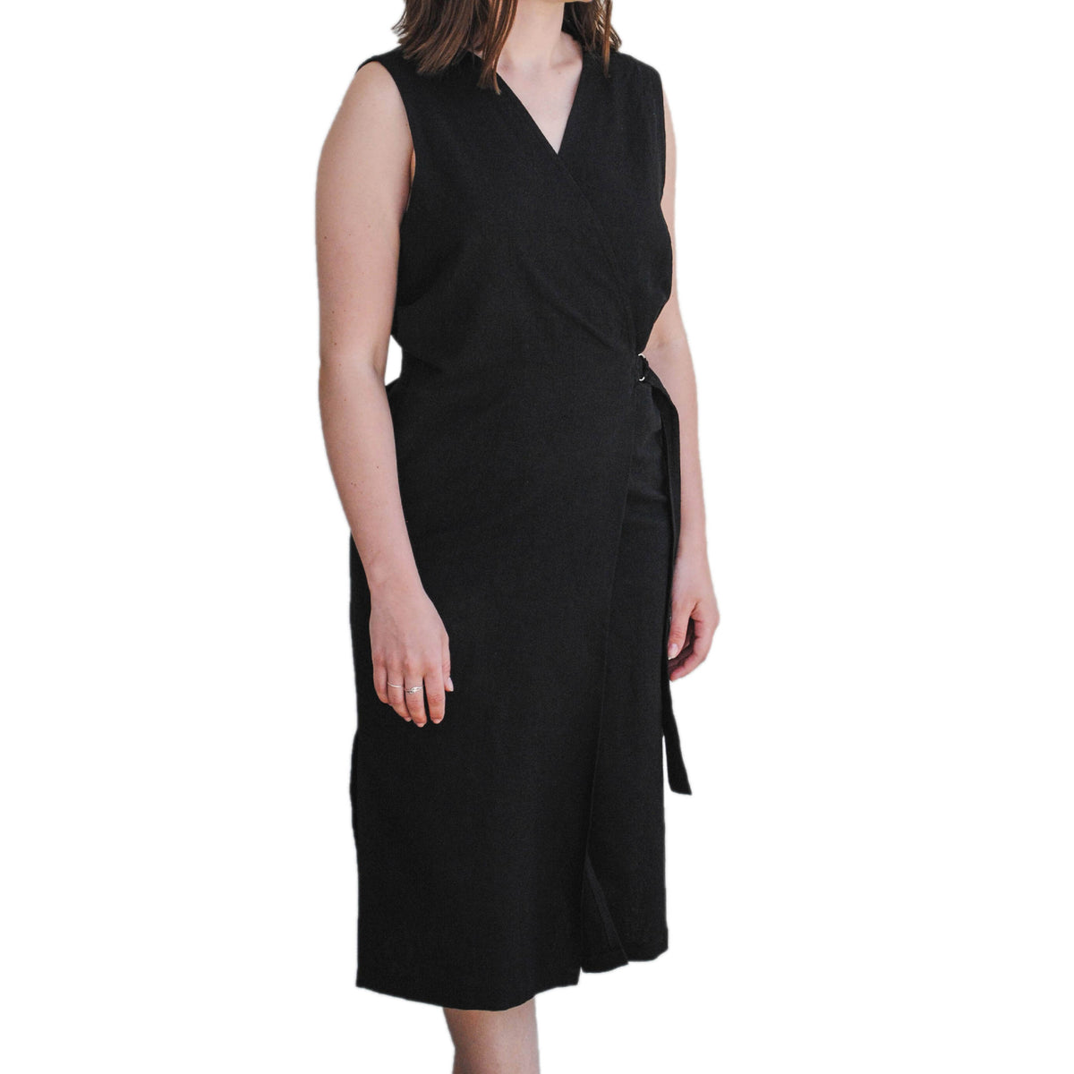 sustainable and ethical wrap dress