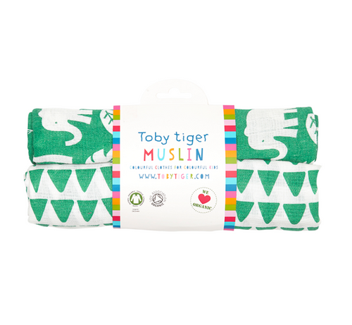 Green Jungle Muslin 2 Pack