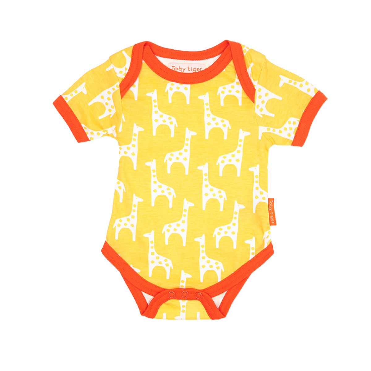 Giraffe Organic Cotton Baby Bodies 2 Pack