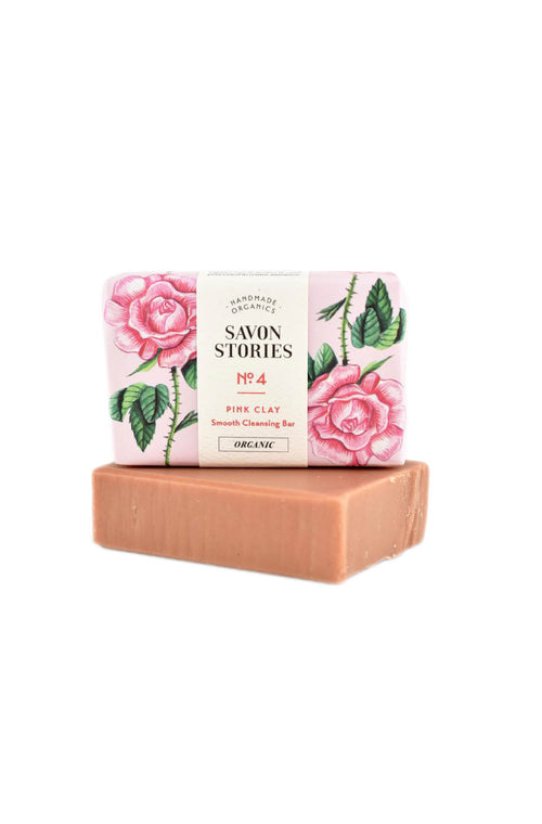Pink Clay Bar Soap with Rose, Rose Geranium & Palmarosa