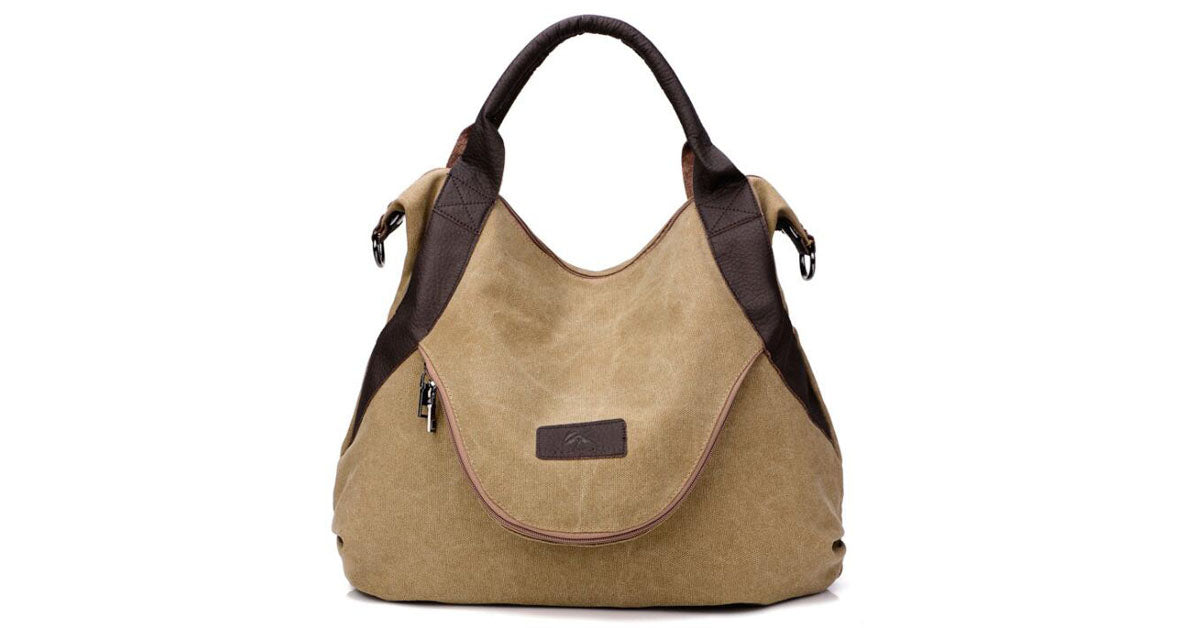 Large Capacity Single Shoulder Retro Canvas Bag