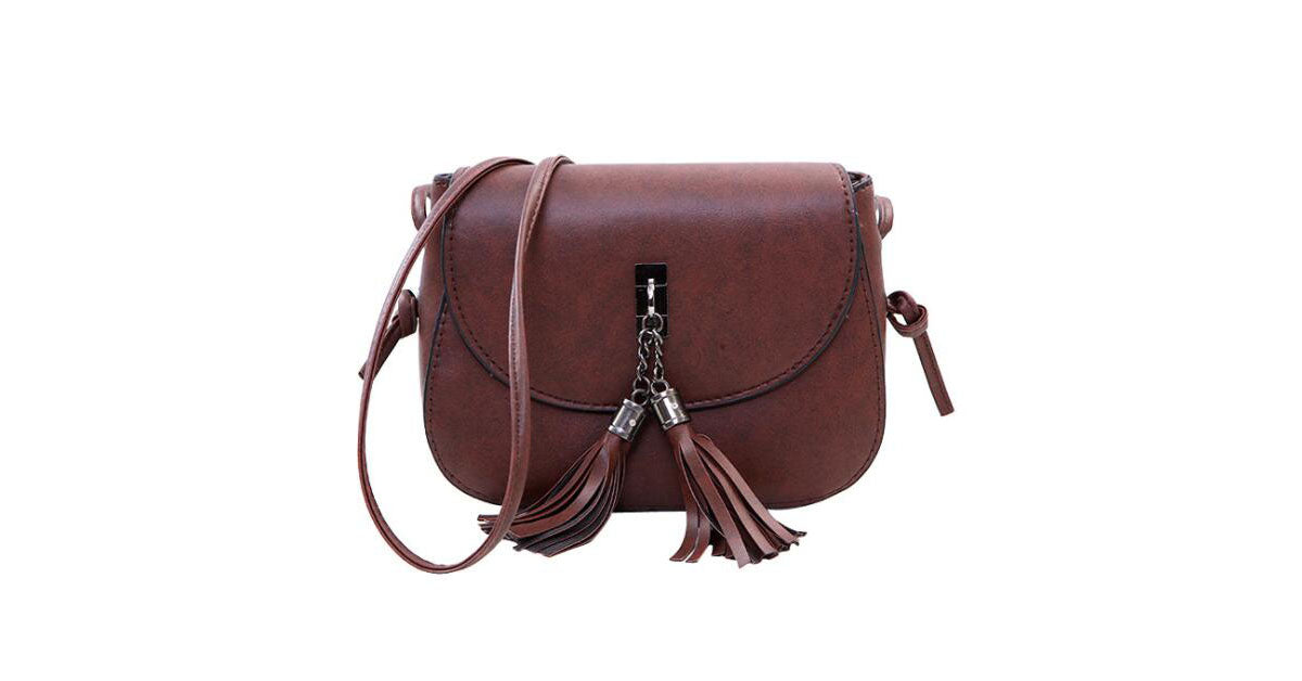 Semicircle Fringed Single Shoulder Mini Slant Bag