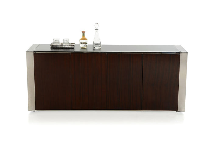 Modrest Courtland Modern Golden Teak Wood Buffet