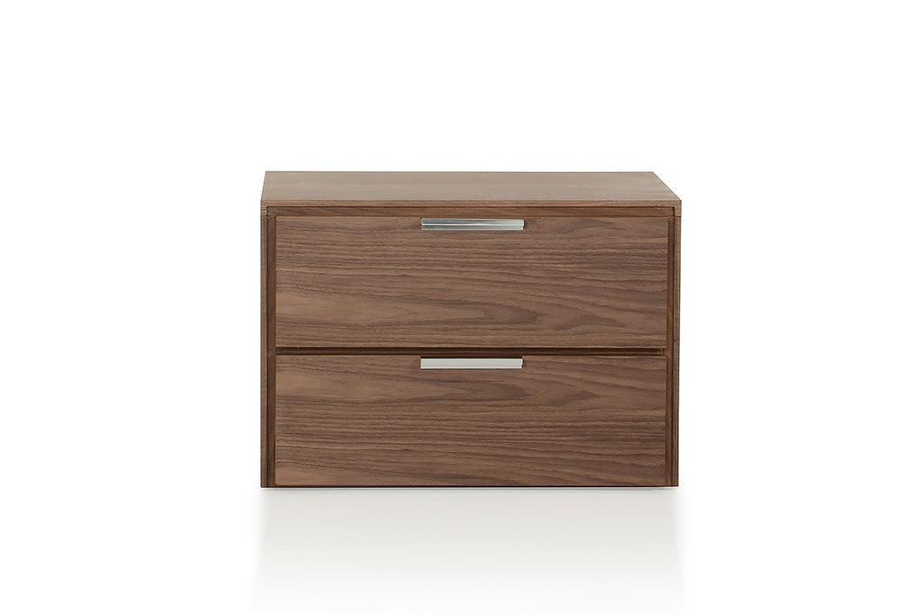 Walnut Nightstand Modern