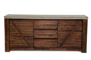 Acacia Wood Sideboard