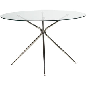 ATOS 48-INCH ROUND DINING TABLE - Fast Ship Furniture