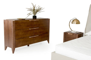 Modrest Codex Modern Tobacco 6 Drawer Bedroom Dresser