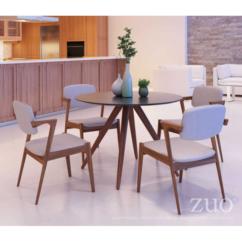 Fine Zuo Brickell Dove Gray Dining Chair Dailytribune Chair Design For Home Dailytribuneorg