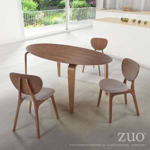 Zuo Virginia Key Walnut Dining Table