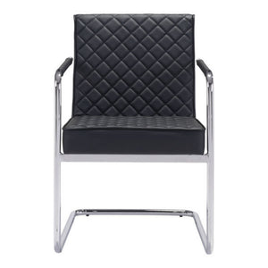 Zuo Quilt Black Dining Chair
