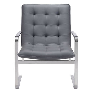 Zuo Solo Occasional Chair Gray