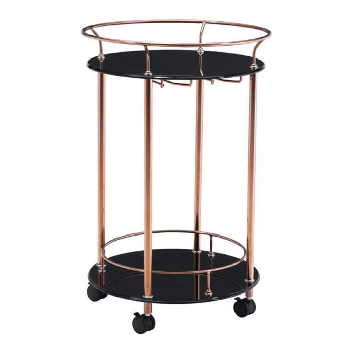 Zuo Modern Plato Serving Cart Rose Gold