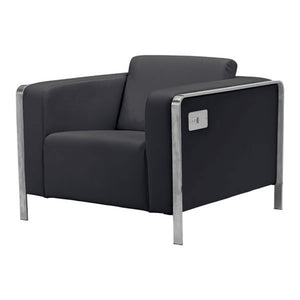Zuo Thor Arm Chair Black