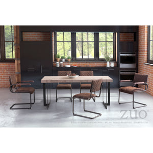 Zuo Father Vintage Brown Dining Chair