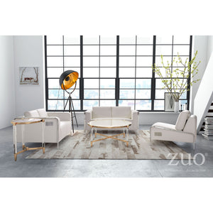 Zuo Thor Armless Chair White