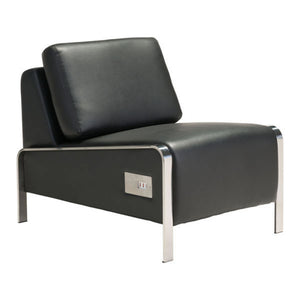 Zuo Thor Armless Chair Black