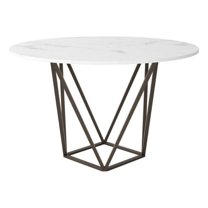 Zuo Tintern Stone & A. Brass Dining Table