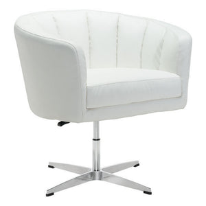 Zuo Wilshire Occasional Chair White Pu