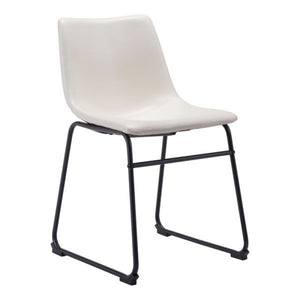 Zuo Smart Distressed White Dining Chair