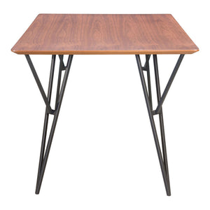 Zuo Audrey Walnut & Black Dining Table