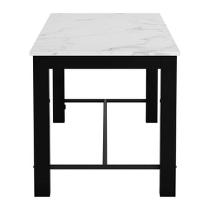 Zuo Dawson Faux Marble & Matt Black Dining Table
