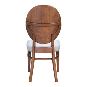 Zuo Regents Walnut & Light Gray Dining Chair