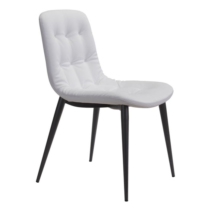 Zuo Tangiers White Dining Chair