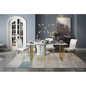 Zuo Atlas Stone & Gold Dining Table
