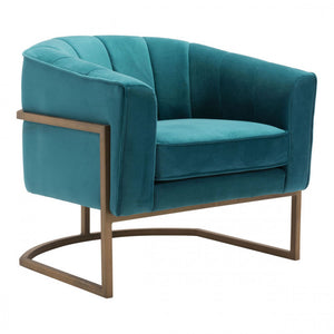Zuo Lyric Occasional Chair Green Velvet
