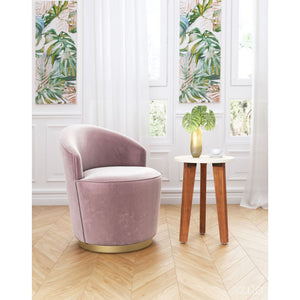 Zuo Zoey Arm Chair Pink Velvet