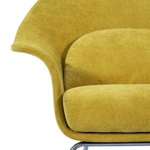 Chiara KD Fabric Accent Chair Brushed Stainless Steel Legs, Citrus Garden
