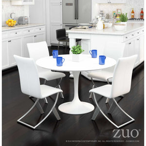 Zuo Wilco White Dining Table