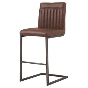 Ronan KD PU Counter Stool, Antique Cigar Brown