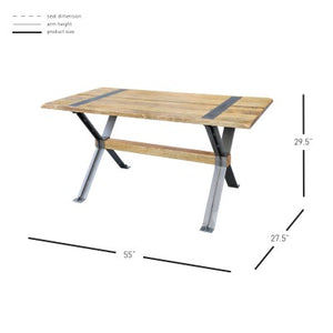 Marcello KD Desk, Rustic Indigo
