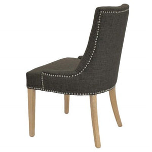 Charlotte Fabric Chair NWO Legs, Toffee