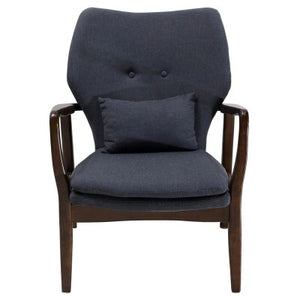 Jean KD Fabric Arm Chair, Pebble Gray