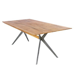 Pollux KD Dining Table, Antique Woodland