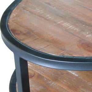 Salvatore Oval Coffee Table, Rustic Gamma