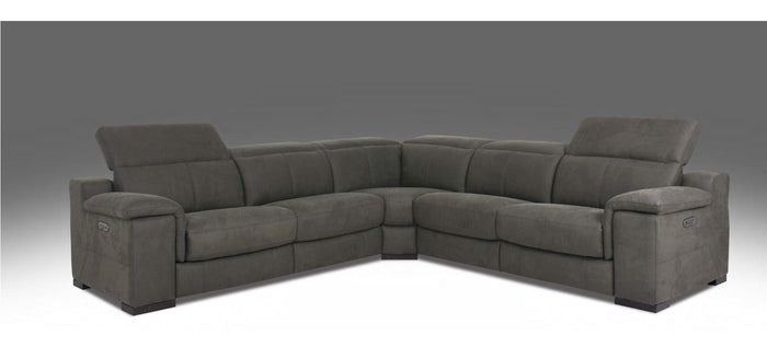 HTL Fabric 5 Piece Power Reclining Sectional W/Power Headrest RS-11468-PR * (CURRENTLY ON FURNITURE SHOWROOM FLOOR)