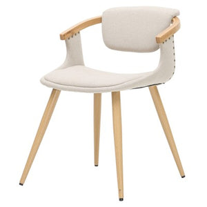 Darwin KD Fabric Bamboo Chair, Stokes Linen/Natural