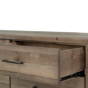 Bianco Dresser with 6 Drawers, Rustic Tuscan