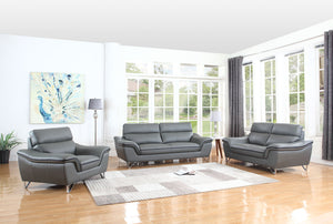 GU Furniture #168 Stationary Sofa (Grey)  (FLOOR MODEL - MUST PURCHASE FROM SHOWROOM)