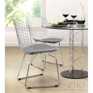 Zuo Wire Chrome Dining Chair