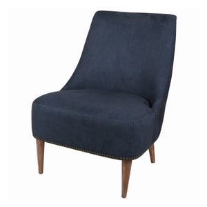 Jordan KD Fabric Accent Chair Brushed Smoke Legs, Denim Slate