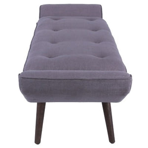 Newcastle KD Fabric Tufted Bench, Gunmetal