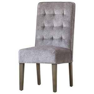 Texas Fabric Tufted Chair, Tweed Gray