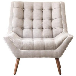 Oxford KD Fabric Tufted Accent Chair, Putty