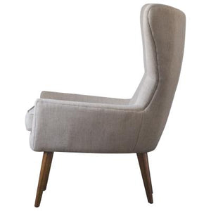 Arya KD Fabric Chair Wooden Legs, Sand